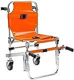 FDSAD Chaise d'escalier EMS - Cadre léger et Pliable, Chaise d'escalier en Aluminium Fauteuil Roulant d'escalade d'escalier léger pour Pompier d'ambulance avec Boucles à dégagement Rapide