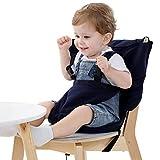 Vine Chaise Haute de Voyage Portable Easy Seat | Rehausseur Chaise Enfant,Housse de Siège pour Chaise Haute Toddler | Réglable, Sécurité, Lavable | Facile à Ransporter dans le sac à main | Bleu Foncé