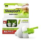 Alpine SleepSoft Bouchons d'oreilles : protections auditives pour le sommeil - Atténuent les bruits nuisibles - Filtres doux adaptés à toutes positions de sommeil - Hypoallergéniques & réutilisables