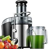 Centrifugeuse Fruits et Légumes 800W, Centrifugeuse Extracteur de Jus Electrique, 2 Vitesses, Récipient à Jus Pulpe, Sans BPA