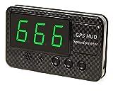 Universel GPS HUD Compteur de vitesse C60S Head Up Affichage de la vitesse numérique MPH KM / H LED Projecteur de vitesse d'écran sur une alarme de vitesse pour tous les véhicules Affichage numérique