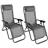 IDMarket - Lot de 2 fauteuils Relax de Jardin Gris Anthracite chaises Longues