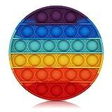 Bdwing Push and Pop Bubble Sensory Fidget Toy, Jouets Sensoriels à Presser, Silicone Anti-Stress Jouets de Soulagement de L'anxiété Educatifs Autisme Besoins Spéciaux pour Enfants Adultes