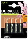 Duracell Piles Rechargeables AA 2500 mAh idéales pour les manettes Xbox, lot de 4 piles