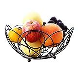 LZQBD Bol de Fruits Nordic Métal Cuisine Cuisine Bol Panier Basket Robinetterie, Séjour En Fer Forgé Plaques de Fruits Plaques D'Affichage, Porte-Vidange de Légumes de Comptoir