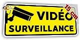 Sticker Vidéo Surveillance Autocollant Caméra Sécurité Alarme (Largeur 15 cm/Hauteur 6,5 cm)