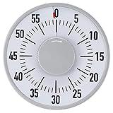 【𝐎𝐟𝐟𝐫𝐞 𝐁𝐥𝐚𝐜𝐤 𝐅𝐫𝐢𝐝𝐚𝒚】Minuterie d'alarme, outil de temps de cuisine rotatif rond 70db facile à utiliser, gestion du temps portable pour la maison d'accessoires de cuisine de Restaurant