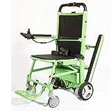 Fauteuil roulant électrique pliant haut de gamme, fauteuil d'escalier d'évacuation, transport d'urgence manuel d'escalier en fauteuil roulant ascenseur-capacité de charge: 440 lb vert