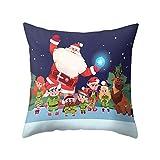 SpirWoRchlan Housse de coussin pour décoration de Noël Motif sapin de Noël Motif bonhomme de neige