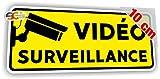 Sticker Vidéo Surveillance Autocollant Caméra Sécurité Alarme (Largeur 10 cm/Hauteur 4 cm)