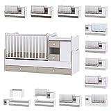 Lit bébé évolutif/combiné MiniMax 3en1 Lorelli Ambre (le lit bébé se transforme en: bureau, armoire, lit d'adolescent) Lorelli