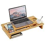 Acaza Support pour écran, élévateur, rehausseur d'écran d'ordinateur Portable, Bambou