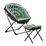 Tedyy Chaises Longues de Soleil Pliantes chaises Longues Lunettes de chaises de Lune Vertes chaises de Camping rembourrées Tabourets de Loisirs en Plein air Portable Pliable