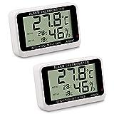 CAMWAY Thermomètre et Hygromètre Numérique sans Fil de Réfrigérateur avec Alarme Sonore de Haute Température et Basse Température et Lumière Clignotante