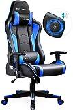 GTPLAYER Chaise Gaming Fauteuil de Bureau Chaise Gamer Music avec Haut-Parleur Bluetooth, Design Ergonomique Série de GTRACING (Bleu)