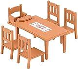 Sylvanian Families - Le Village - La Table de Repas - 4506 - Meubles et Accessoires Poupée - Mini Poupées