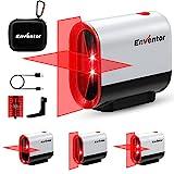 Niveau Laser, USB charge, ENVENTOR Autonivelant et Mode Pulsé Niveau Lazer à deux faisceaux, 360 Laser Rotatif, Ligne laser Croix/Horizontale/Verticale, Support Magnétique, IP54 Protection, Rouge