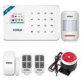 KERUI W18 WiFi GSM Alarme Maison sans Fil avec Sirene Android iOS APP Contrôle Sécurité Système Alarme Maison sans Fil avec Alarme Porte et Fenêtre