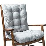 Coussins de chaise de jardin, 2 pièces / ensemble Coussin de chaise à bascule Coussin de siège épais Coussin de chaise en rotin Coussin de canapé Coussin de chaise de jardin Dossier et fond pour