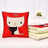 N/A 2 Multifonctions Oreiller Quilts, Motif Cartoon Chaise de Bureau Voiture Coussin à Double Usage, Home Sofa Oreiller Coussin Quilt (Color : D, Size : 40×40cm)