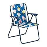BEST 35210020de Camping Fauteuil Pliable pour Enfant Bleu