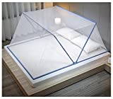 moustiquaires pliables et portables pour les dortoirs familiaux sont faciles à installer et à ranger et sont disponibles dans une variété de couleurs et de tailles (1.2 m à 1.8m)-Bleu 160x190x80cm