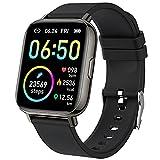 Montre Connectée Homme Femme 1.69' Smartwatch Sport Moniteur de Fréquence Cardiaque Sommeil Montre Intelligente Podometre Calories, Etanche IP68 Chronometre GPS Partagé 24 Modes Sport pour Android iOS