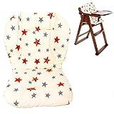Bébé Poussette/Voiture/Chaise Haute Siège Coussin Liner Tapis Pad Couvercle Protecteur Respirant (Star)