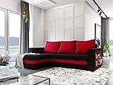 MebLiebe Sydney Canapé d'angle avec Fonction de lit et Fonction de Sommeil 242 x 152 x 85 cm pour séjour