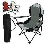 Linxor France ® Chaise de camping pliable + Sac de transport - 3 Coloris - Norme CE - Gris