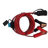 Digit.Tail Clips de Voiture/Pinces Crocodile Câble d'Extension pour Allume Cigare, [4m - Fusible 25A 250V] Rallonge de Homme Lead Cable pour Convertisseurs, 12V 24V Réfrigérateur/Aspirateur