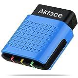 Akface Outil Diagnostic Auto OBD2 Bluetooth 4.0 Lecteur de Code sans Fil Scanner OBD2 Moteur Lumière Vérifier Wireless pour Android, iOS et Windows