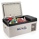 Novhome Réfrigérateur et congélateur de voiture de 20 L - Compresseur de 12 V - Portable - Glacière électrique pour l'extérieur, les voyages, le camping et l'utilisation à la maison
