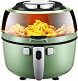 XQKQ Gaufriers et fers à Repasser, friteuse à air , 6.5L / 1350W Rapide Grande friteuses à air Chaud cuiseur sans Huile, écran Tactile LED/rôti/Cuisson/Garder au Chaud, Convient au Lave-vai