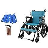 GX-Wheelchair Accoudoir Et Repose-Pieds Amovibles en Fauteuil Roulant Pliable Et Automoteur Largeur du Siège: 70 cm Poids Maximum Supporté: 100 Kg