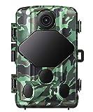 usogood Caméra de Chasse Infrarouge Invisible avec Carte 32G 20MP 1080P Vision Nocturne Détection Thermique 46 LED de 940nm Camera de la Faune Surveillance IP66 Imperméable à l'eau et à la Poussière