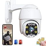 Caméra IP de Surveillance Extérieure GSM 3G/4G LTE CCTV High-Definition 1080P PTZ 355°/90°Rotation,Vision Nocturne Couleu,Détection de Mouvement,Alarme à distance, IP66 étancher,Pâturage 【4G-Caméra】