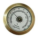 Liubiaonet Hygromètre analogique rond pour armoires de guitare d'humidores de cigares 50mm Diamètre 449C
