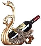 Décoration de casier à vin, Statue en résine casier à vin Maison Salon Accessoires de décoration d'armoire à vin de Bureau, Bronze