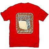 Graphic Gear T-shirt pour homme avec citation de grille-pain - Rouge - M