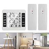 OurLeeme Thermomètres numériques sans Fil, Thermomètre Réfrigérateur Écran LCD numérique Alarme sonore Thermomètre pour congélateur Étanche avec 2 capteurs sans Fil (Pas de Fonction hygromètre)