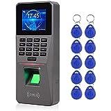 SISHUINIANHUA 2.4inch TCP/IP/USB Biométric RFID RFID Système d'accès Système de contrôle de l'horloge électronique
