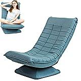 fauteuils et chaises pour Salon 360°étage Cabriolet Chaise Pliante à Dossier Haut Lazy Sofa Chair Housse de canapé Amovible Mécanisme à Ressort Fauteuil Chambre Adulte-Bleu-l'entrepôt Allemand