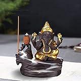 Brûle-encens à refoulement en céramique avec 10 cônes d'encens style 3