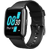 UMIDIGI Montre Connectée Hommes UFit Montre Intelligente Femmes Fitness Trackers Cardiaque oxymètre de pouls Moniteur d'oxygène Moniteur de 5 ATM Smart Watch Android iPhone