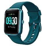 Willful Montre Connectée Smartwatch Podometre Trackers d'Activité Fréquence Cardiaque pour Running Calories Dépensées Course à Pied Montre Intelligente Bluetooth pour Android iOS Cadeau Homme Bleu