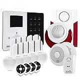 Atlantic'S - Alarme Maison sans Fil IP IPEOS KIT 8 MD-334R - Pack Alarme WiFi - Paramétrage à Distance