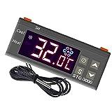 Contrôleur de température numérique STC-3000 Thermostat pour les réservoirs d'eau de fermentation Congélateur 110-220V