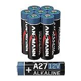Ansmann A27 Lot de 8 Piles alcalines 12 V MN27 pour systèmes d'alarme, ouvre-Porte de Garage, télécommande et Bien Plus Encore, Batterie jetable