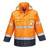 Portwest S162onrxxxl pour homme Haute visibilité Lite Interne en polaire 3en 1pour homme, Regular, taille 3X L, Orange/bleu marine